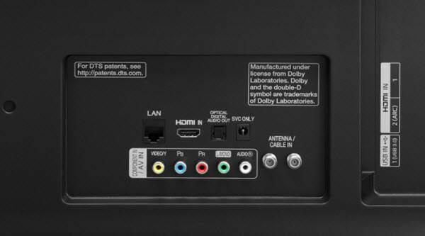 LG 49UJ635V conexiuni porturi